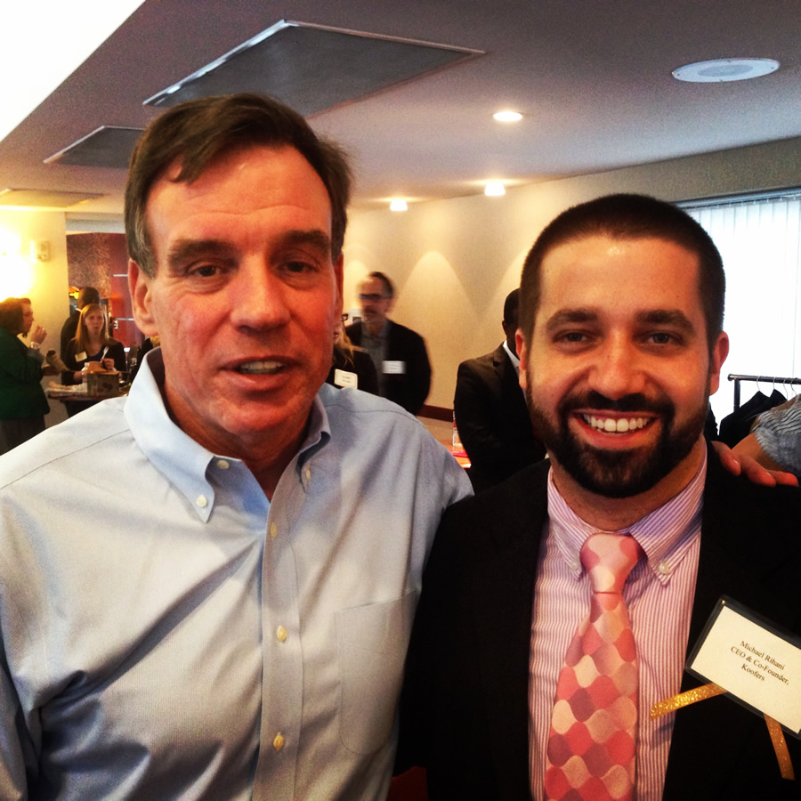 Co-Founder and CEO Michael and Senator Mark Warner